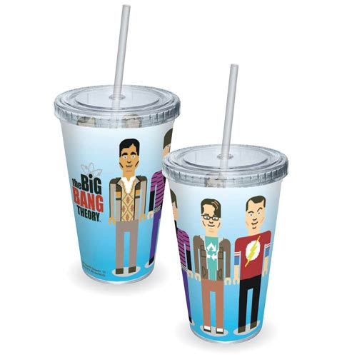 Big Bang Theory Pixelated Cast Acrylic Travel Cup