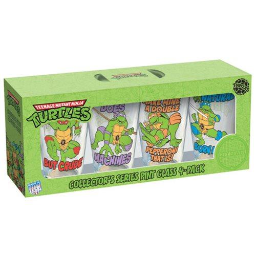 Teenage Mutant Ninja Turtles Phrases Pint Glass 4-Pack