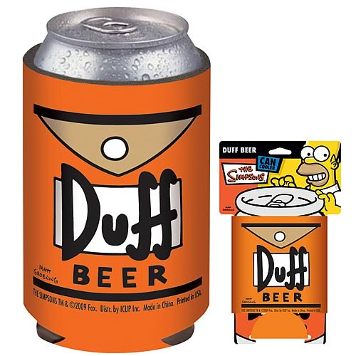 Simpsons Duff Beer Can Hugger