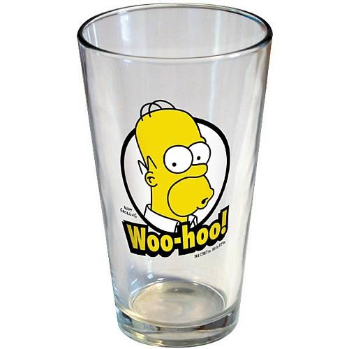Simpsons Homer Woo-Hoo Pint Glass