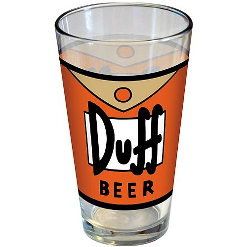 Simpsons Duff Beer Pint Glass