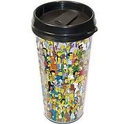Simpsons Springfield Plastic Travel Mug