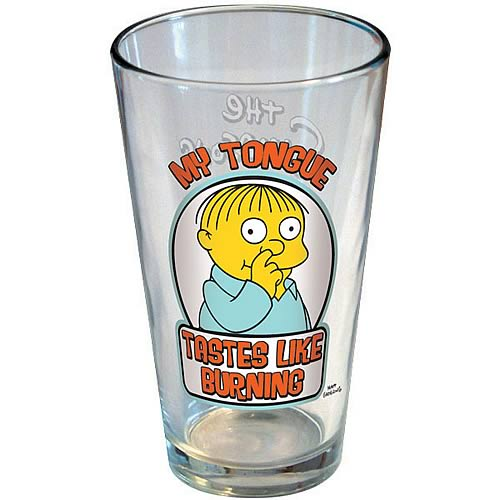 Simpsons Ralph Wiggum Tongue Tastes Like Burning Pint Glass