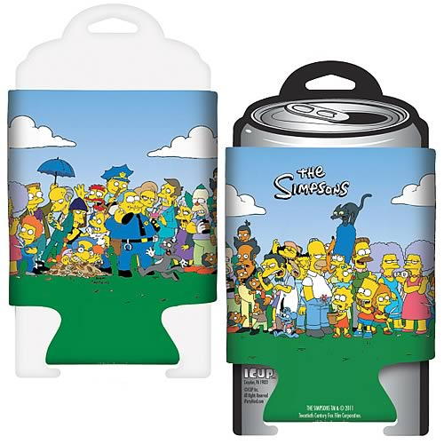 Simpsons Friends and Family Beer Can Hugger