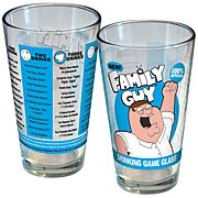 Family Guy Drinking Game Blue and Yellow Pint Glass