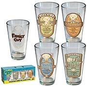 Family Guy Stewie's Recipe Pint Glasses 4-Pack