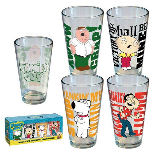 Family Guy Quotes Pint Glass 4-Pack