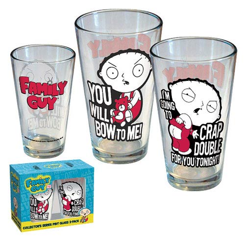 Family Guy Stewie Attitude Pint Glass 2-Pack