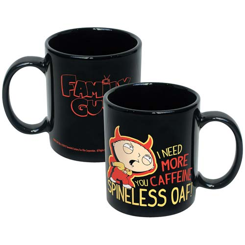 Family Guy Stewie I Need More Caffeine You Spineless Oaf Mug