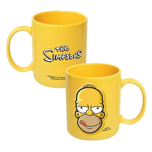 The Simpsons Homer Head 20 oz. Embossed Mug