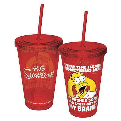 The Simpsons Homer My Brain Acrylic Travel Cup