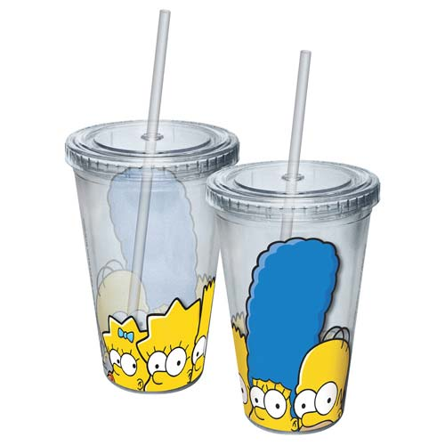 Simpsons Family Faces Acrylic Travel Cup