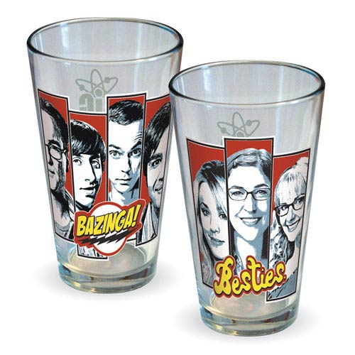 Big Bang Theory Besties Pint Glass 2-Pack