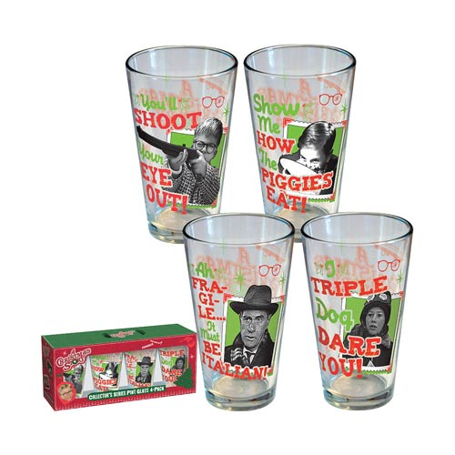 A Christmas Story Retro Pint Glass 4-Pack - ICUP - Christmas Story ...
