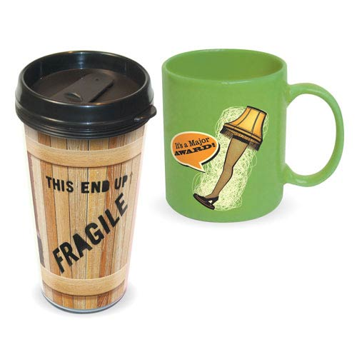 A Christmas Story Travel Mug and Ceramic Mug 2-Pack