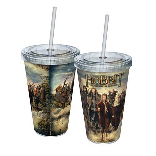 The Hobbit An Unexpected Journey Cast Acrylic Travel Cup