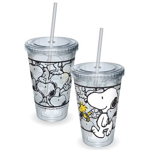 Peanuts Snoopy and Woodstock Walking Acrylic Travel cup