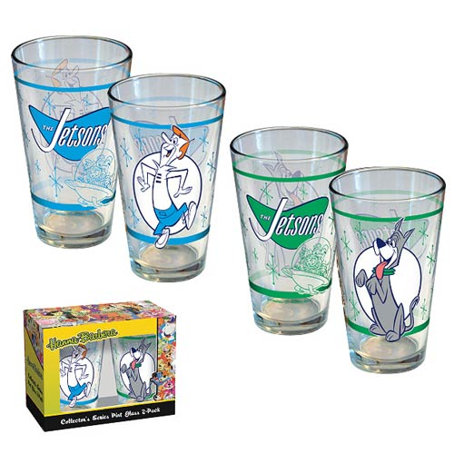The Jetsons George and Astro Retro Pint Glass 2-Pack
