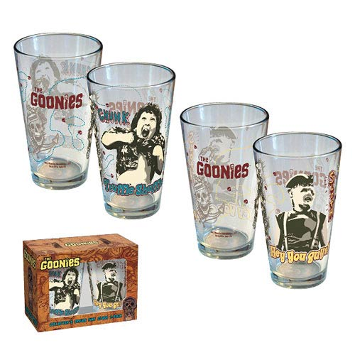 The Goonies Chunk and Sloth Pint Glass 2-Pack