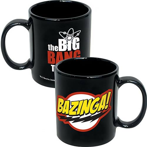 Big Bang Theory Bazinga! Logo Black Coffee Mug