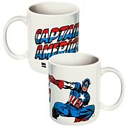 Captain America Marvel White Coffee Mug
