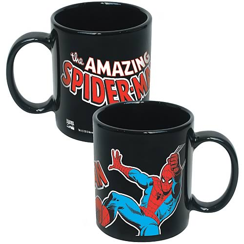 Spider-Man Marvel Black Coffee Mug