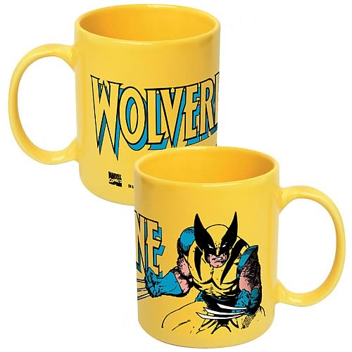 Wolverine Marvel Yellow Coffee Mug