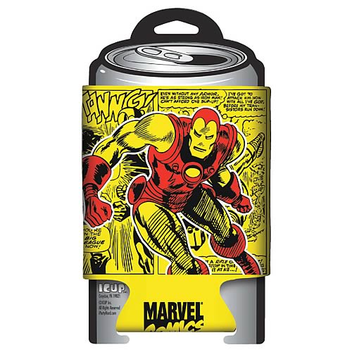 Iron Man Marvel Retro Comic Wrap Can Hugger