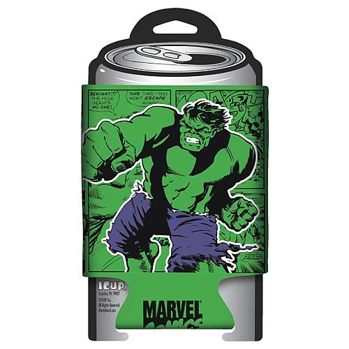 Hulk Marvel Retro Comic Wrap Can Hugger