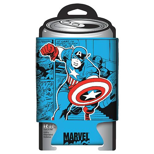 Captain America Marvel Retro Comic Wrap Can Hugger