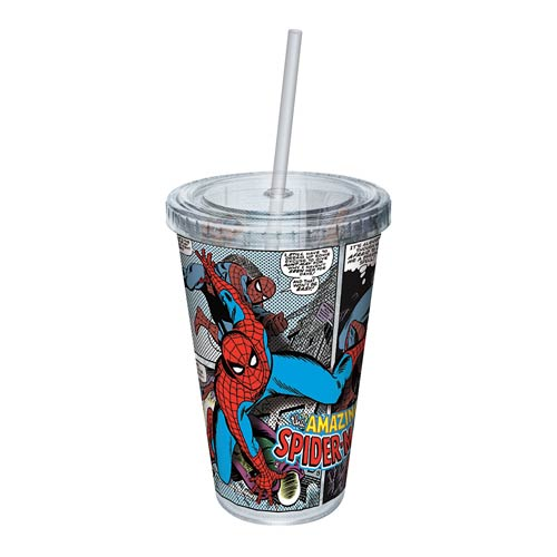 Spider-Man Comic Strip Acrylic Travel Cup