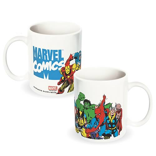 Marvel Heroes White Ceramic Mug
