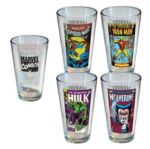 Marvel Vintage Comic Covers Pint Glass 4-Pack
