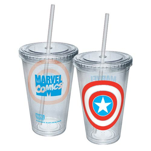 Captain America Shield Acrylic Travel Cup