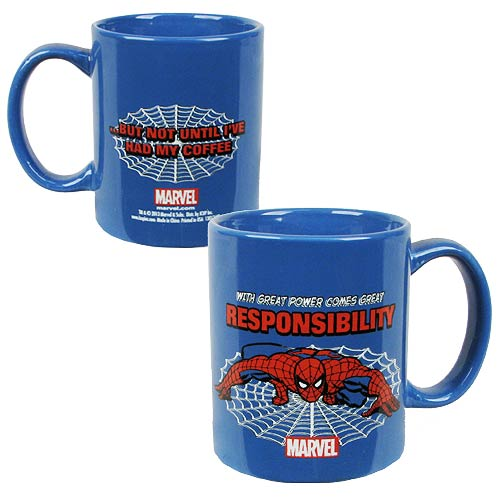 Spider-Man With Great Power Comes Great Responsibility Mug