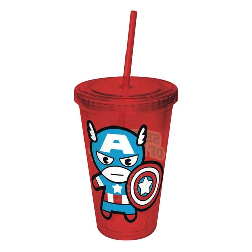 Captain America Kawaii Colored Acrylic Travel Cup