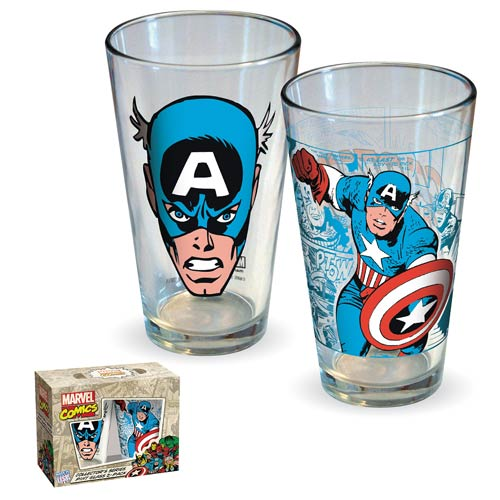 Captain America Comic Pint Glass 2-Pack
