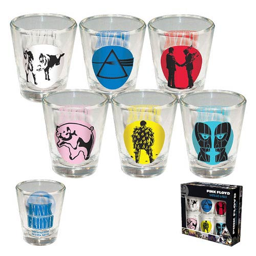 Pink Floyd Album Covers Shot Glass 6-Pack