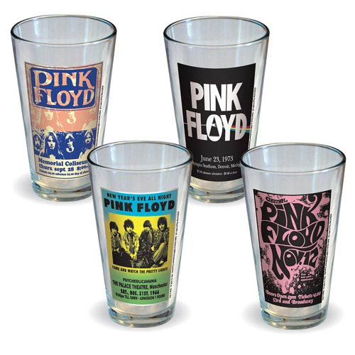 Pink Floyd Poster Pint Glass 4-Pack