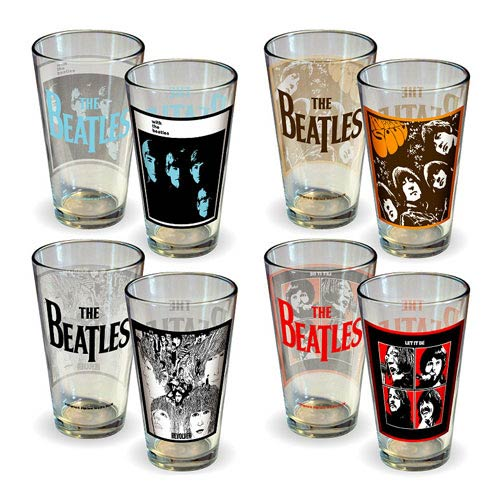Beatles Album Covers Series 1 Pint Glass 4-Pack
