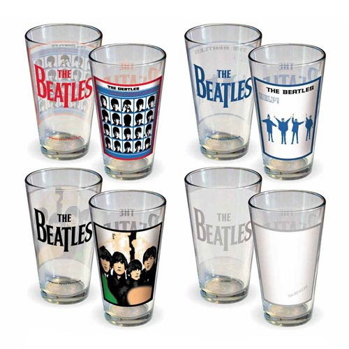 Beatles Album Covers Series 2 Pint Glass 4-Pack