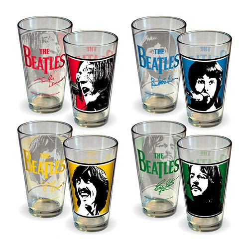 Beatles Let It Be Album Cover Pint Glass 4-Pack