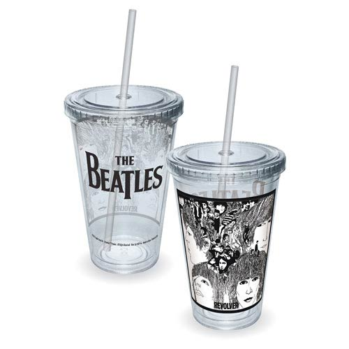 Beatles Revolver Album Cover Acrylic Travel Cup
