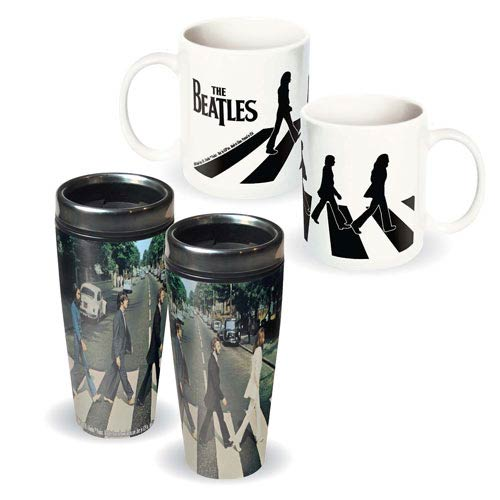 Beatles Abbey Road Travel Mug and Ceramic Mug 2-Pack