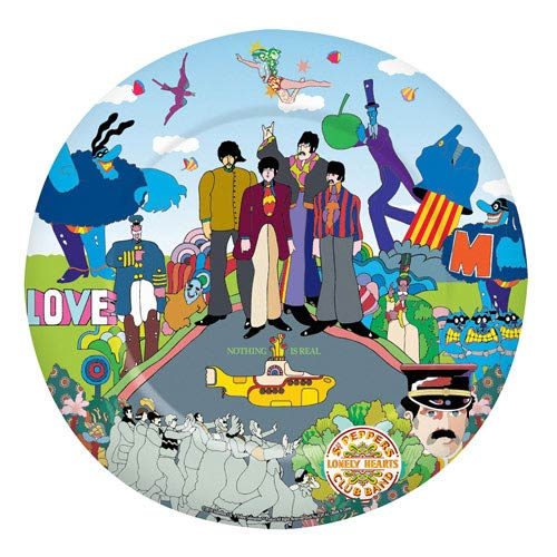 Beatles Yellow Submarine 10 1/2-Inch Melamine Plate