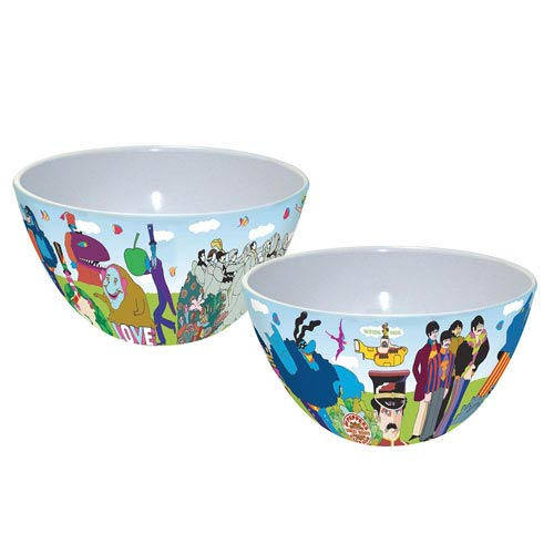 Beatles Yellow Submarine 6-Inch Melamine Bowl