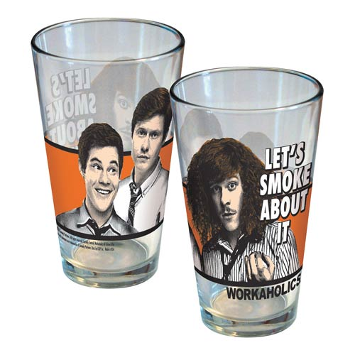 Workaholics Let's Smoke About It Pint Glass