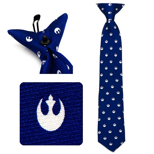 Star Wars Rebel Navy Boys Silk Clip-On Tie