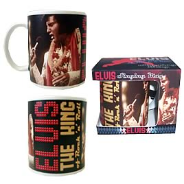 Elvis Presley Suspicious Minds Singing Mug