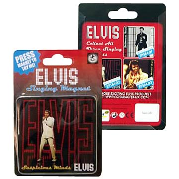 Elvis Presley Suspicious Minds Singing Magnet